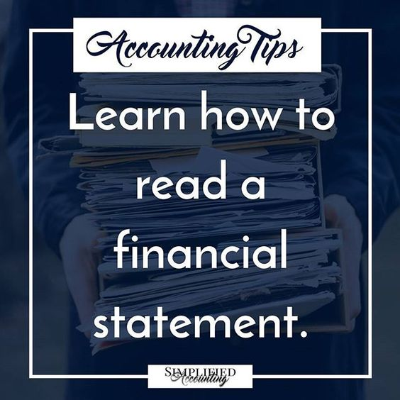 Understand what your financial statement is telling you! Small - financial statement