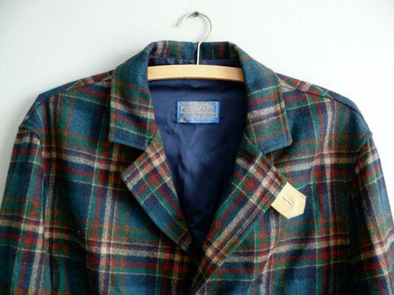 Vintage Mens Pendleton Jacket Plaid Tartan Pendleton by LonePony, $129.99