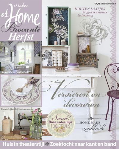 Brocante home and shabby on pinterest for Magazine ariadne at home
