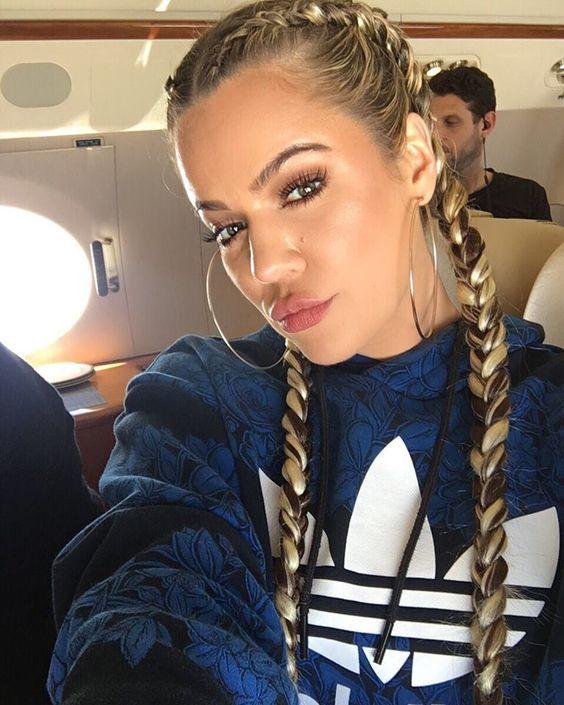 Khloé Kardashian...hair: