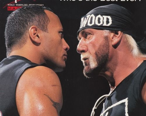 Hulk hogan hair extensions images hair extension hair iconic moment the rock and hulk hogan staredown wrestling iconic moment the rock and hulk hogan pmusecretfo Gallery