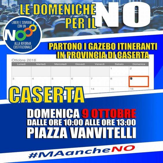 """Partono, in provincia di Caserta, le iniziative per il No alla riforma promosse dal Comitato """"#MAancheNO"""". a cura di Enzo Santoro - http://www.vivicasagiove.it/notizie/partono-provincia-caserta-le-iniziative-no-alla-riforma-promosse-dal-comitato-maancheno/"""