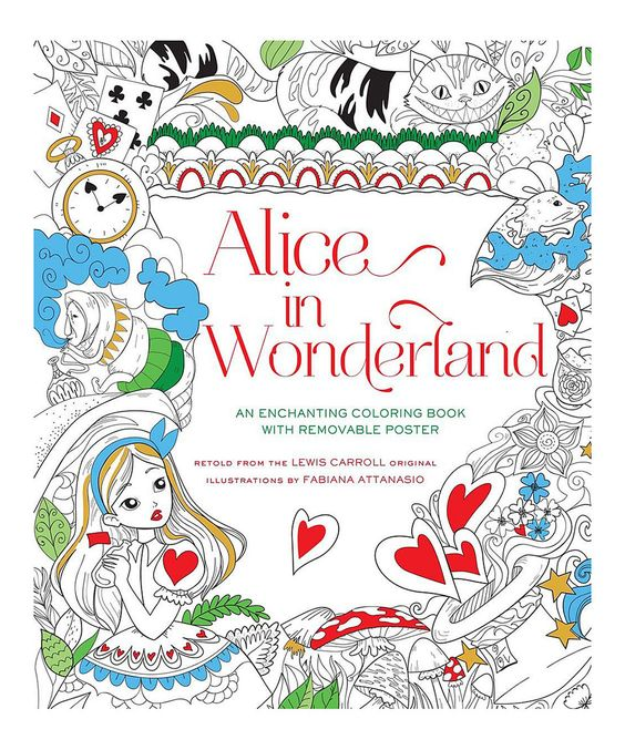 This Alice in Wonderland Coloring Book by Sterling is perfect! #zulilyfinds