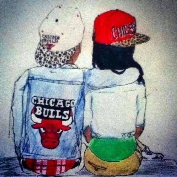 Fofinhos #casalzinhofofo #boneabareta #chicagobulls #estilo_maquiagem