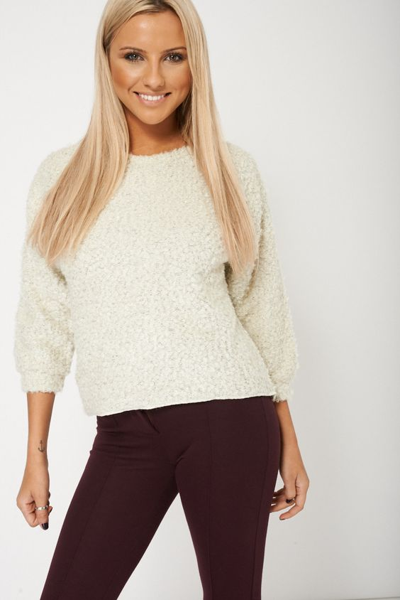Now available: Soft Cream Long S... Order here: http://www.fbargainsgalore.co.uk/products/soft-cream-long-sleeved-fluffy-womens-jumper?utm_campaign=social_autopilot&utm_source=pin&utm_medium=pin
