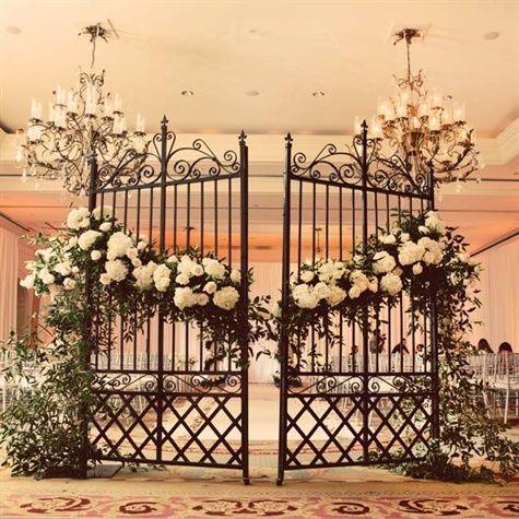 Wrought iron garden gate decor weddings pinterest for How to decorate a garden gate