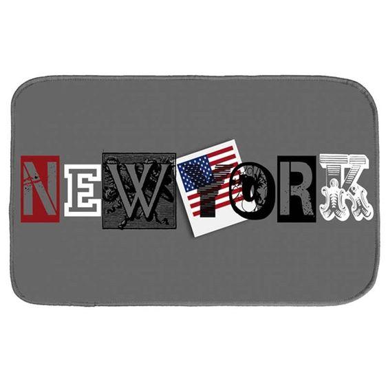 Disponible sur Paris-Prix.com ! Tapis Velours New York City 45X75 cm