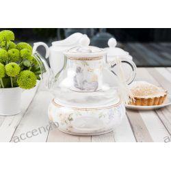 Koty Szklany Dzbanek Z Podgrzewaczem I Sitkiem Tea Pots Bowl Set Sugar Bowl Set