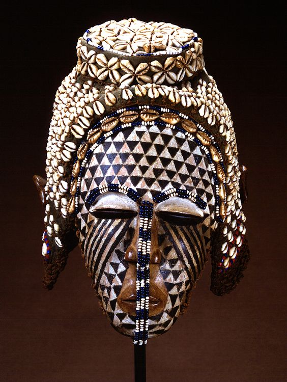 "Africa | Mask (""Ngaady a Mwaash"") from the Kuba people (Bushoong group) from DR Congo 