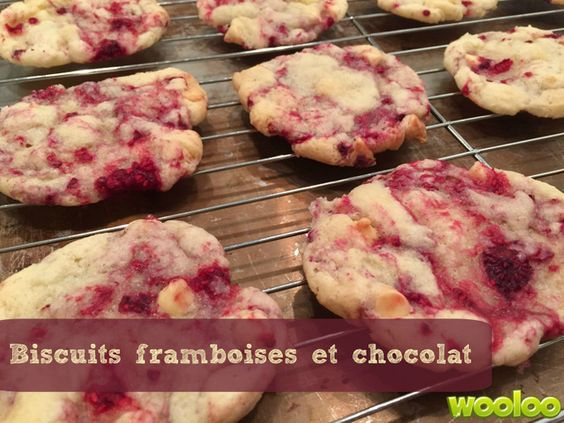 Biscuits aux framboises et chocolat - Wooloo
