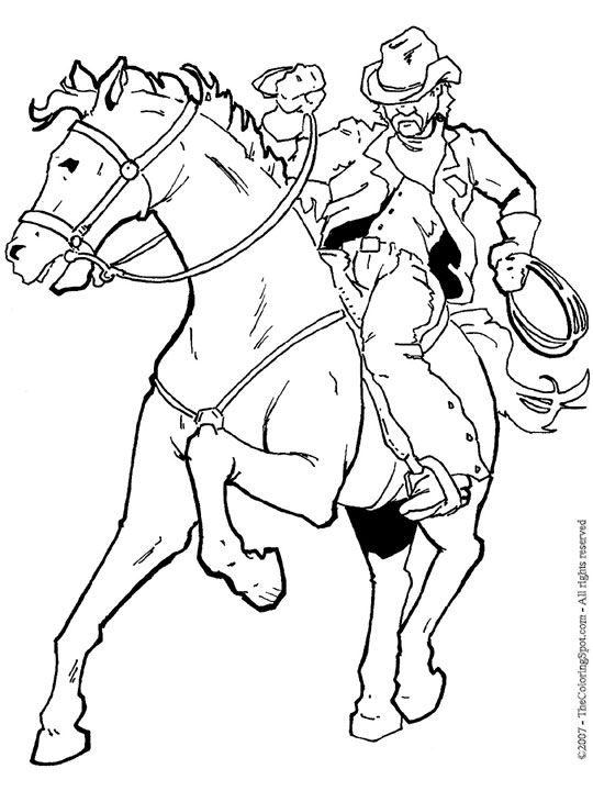 Cowboy Coloring Pages For Kids Coloring Pages Horse Coloring Pages Horse Coloring Horse Coloring Books