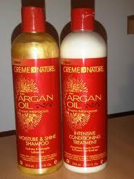 Cream of Nature w/Argan Oil. These products are amazing!
