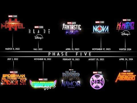 Marvel Officially Announces Phase 5 Slate Marvel Phases Marvel Cinematic Universe Movies Movie List