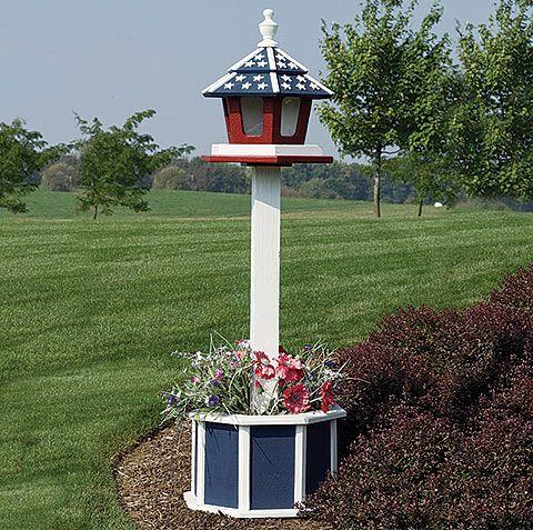 4' Painted Wooden Post for Bird Feeder - Amish Bird Feeders - Bird ...