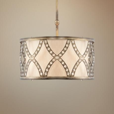 "Golden Bronze Criss-Cross 19 3/4"" Wide Pendant Light  (P0359) Clearance $199.98"