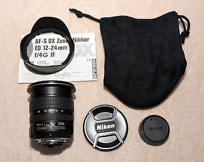 Nikon Zoom-NIKKOR 12-24mm f/4 DX G ED IF lens with hood caps bag and manual https://t.co/aKMfioUL9x https://t.co/mxIJAhX7tf