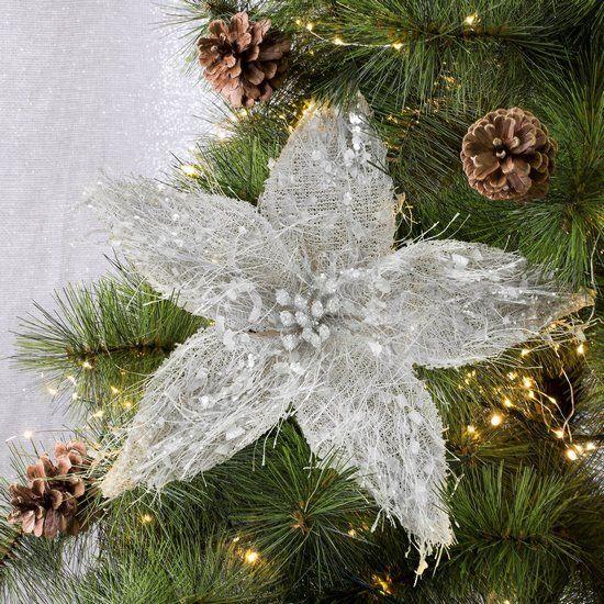 Piekny Kwiat Dekoracyjny Na Choinke To Ciekawa Dekoracja Bozonarodzeniowa Holiday Decor Christmas Wreaths Christmas Ornaments