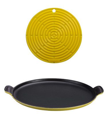 Love this Soleil Bistro Cast Iron Griddle & Cool Tool Set on #zulily! #zulilyfinds