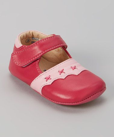 Look what I found on #zulily! Pink Scalloped Leather Mary Jane #zulilyfinds