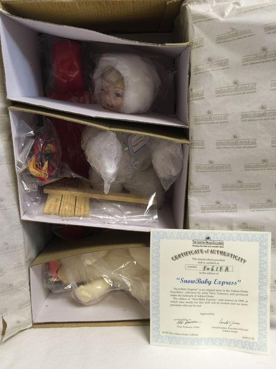 Ashton Drake Snowbabies Collection Snowbaby Express
