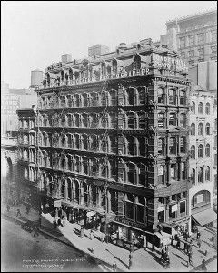 Irving Underhill was so successful that his agency received exclusive commissions to photograph and promote new buildings like the Woolworth Building, which he would capture in timed intervals to track the construction process. Many years later, his name could be seen from blocks away, plastered along the top of his studios at Broadway and Park Place. You can see the words 'Irving Underhill, General Photographer' along the top of the image here, taken in 1922.