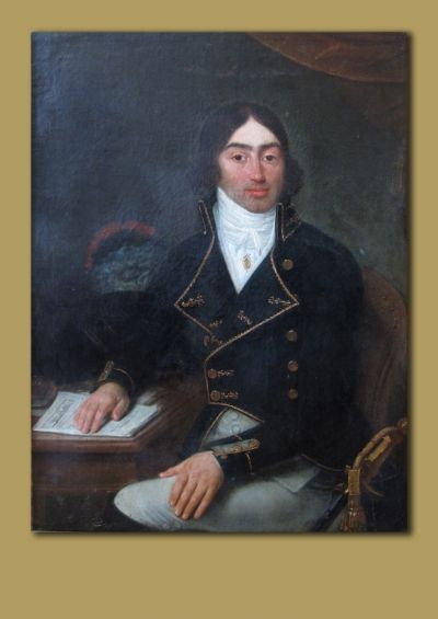 Antoine de Saint-Just, en mission en l'an II, par François Bonneville (collection particulière, ne pas reproduire sans solliciter un accord par notre intermédiaire).
