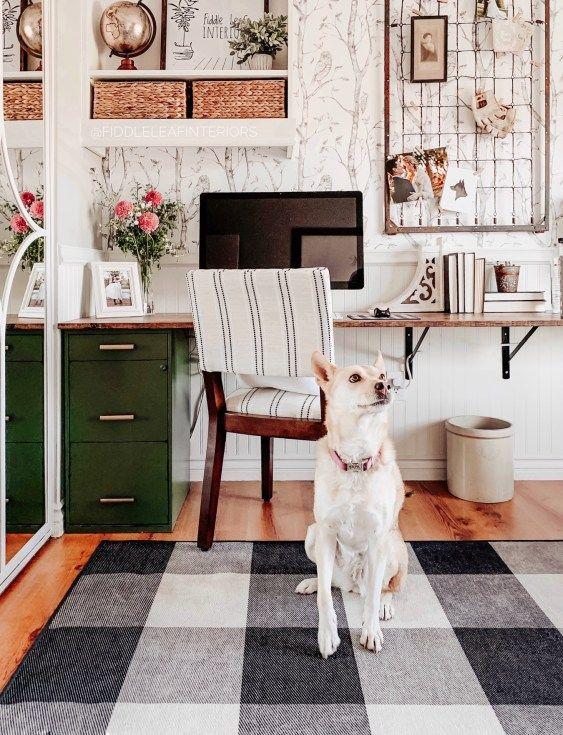 Easy & Affordable DIY Office Desk - Fiddle Leaf Interiors . . #fiddleleafinteriors #diy #homeoffice #diydesk