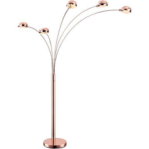Stand Steh Leuchte Wohn Ess Zimmer Lampe Kupfer 5 Flammig Schalter Antik Globo 58228sc Lampe Kupfer Lampe Stehlampe