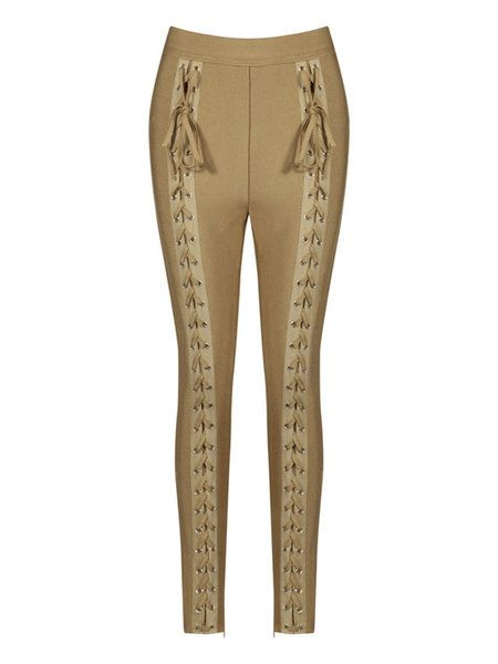 Lace Up Sexy Skinny Leg Pants: