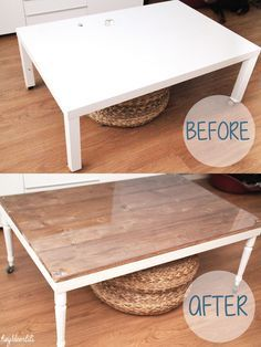 DIY basic table IKEA Retaper un basique: La table basse Ikea by Hey! Deer Lili ( heydeerlili.blogspot.fr ):