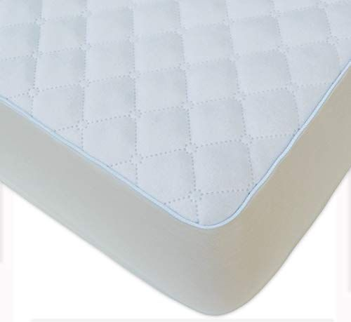 Bluesnail Waterproof Quilted Pack N Play Mattress Cover Fits All Baby Portable Mini Cribs Play Yards And Foldable Mattresses White Crib Mattress Cover Pack N Play Mattress Foldable Mattress