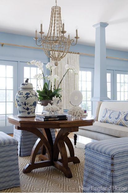 Amazing Blue and White Traditional Interior Design Ideas! #diningroom #traditional #formal #blue