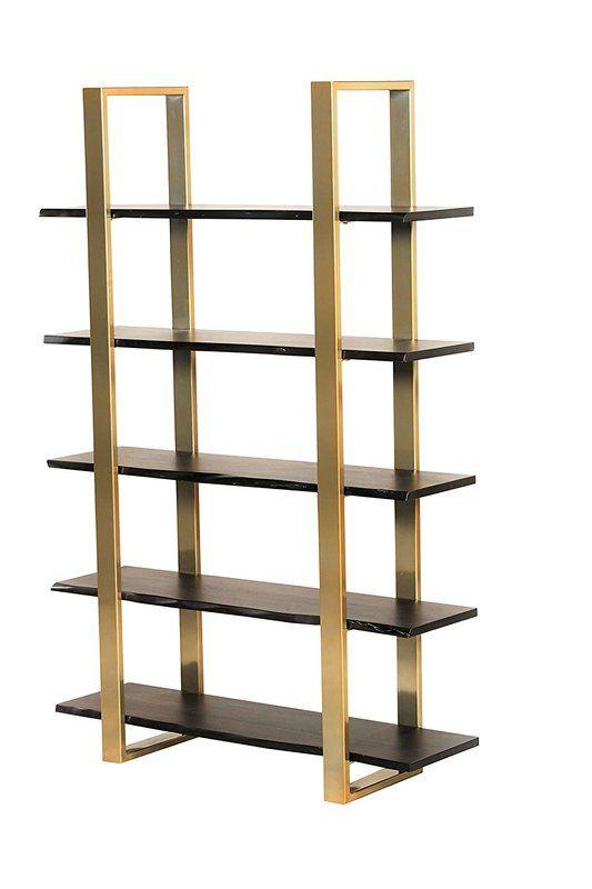 Bertram Modern 5 Tier Etagere Bookcase Diy Wood Floors Diy Wood Projects Furniture Design Wooden