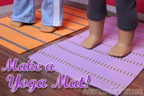 This yoga mat craft is easy and adorable!: