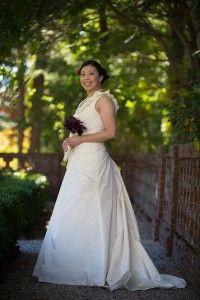Bride in the gardens of the Bradley Estate, Canton, MA