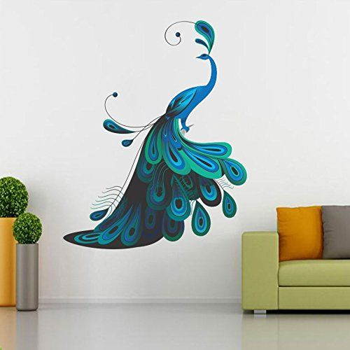 Buy Srg India Modern Peacock Removable Decor Wall Stickers Decal
