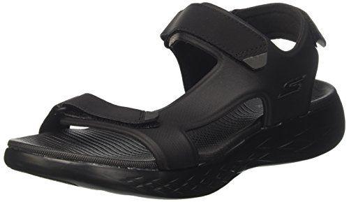 Skechers Men's 55366 Ankle Strap Sandals, Black (Black