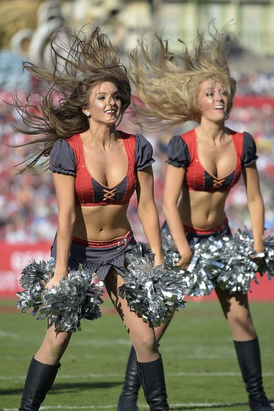 The Tampa Bay Buccaneers cheerleaders perform during the second half of an NFL football game against the New Orleans Saints in Tampa, Fla., Sunday, Dec. 28, 2014. The Saints won 23-20.(AP Photo/Phelan M. Ebenhack)