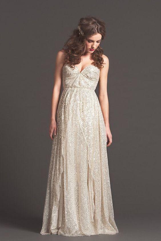Sarah Seven Sparkly Wedding Dress 20 Wedding Dresses with Seasonal Sparkle