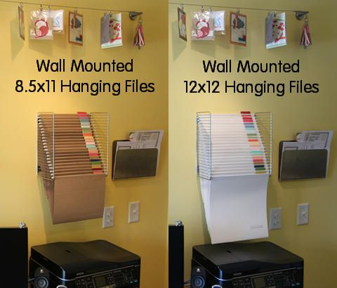 Wall Hanging File Stamp N Storage Paper Storage Paper Storage 12x12 Craft Room Storage