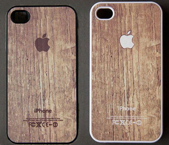 Apple Logo On Wood Print