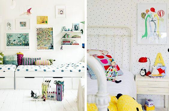 Lunares para decorar la habitación de los niños - http://www.decoora.com/lunares-para-decorar-la-habitacion-de-los-ninos.html