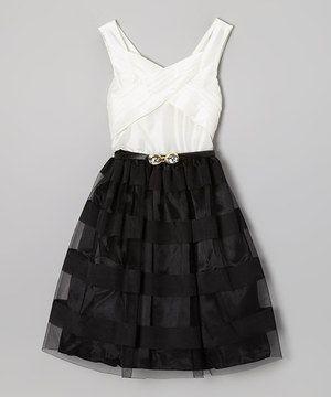 black and white dress - vestido blanco y negro corto ♛