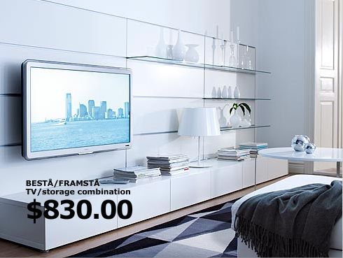 Ikea tv storage and storage on pinterest for Tv solutions for living room