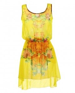 How cute is this little yellow dress