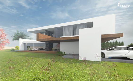 Modernes Haus im Bauhausstil - Massivhaus / Wohnhaus ...
