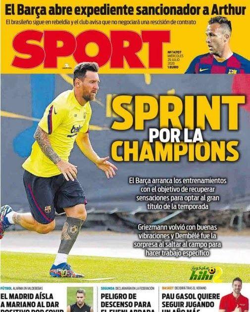 هاي كورة عنونت صحيفة سبورت الإسبانية عبر غلافها الرسمي الصادر لطبعة اليوم الأربعاء بشأن عودة الفريق الكتالوني برشلونة للتدريبا In 2020 Baseball Cards Blog Posts Cards