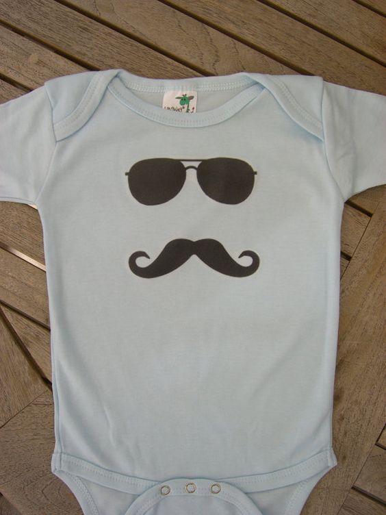 mustache onesie: 1St Justin, 1St Birthday, Baby Diy, Aviator Glasses, Birthday Party