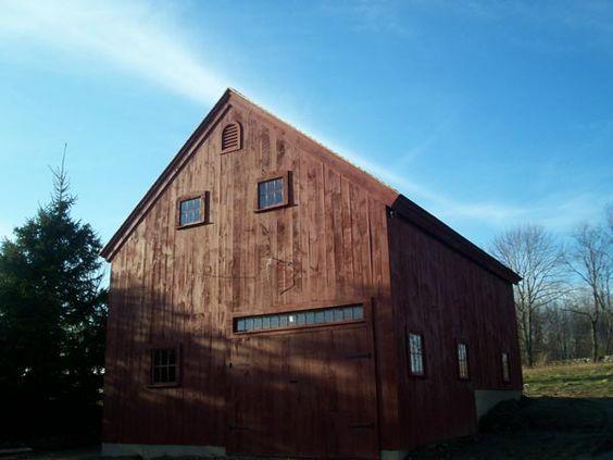 Colonial Style Post And Beam Barn Kit Barn Building Kits