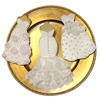 Custom Couture Wedding Gown Cookies  (A Custom Designed Cookie of Your Gown) - $35 - Cute for the Bridal Shower
